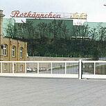 Freitragendes Schiebetor Typ Powertec 13 x 1,8 Meter auf dem Gelände des Unternehmens Rotkäppchen Sekt