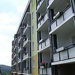 Balkonerweiterung aus Aluminium rechteckig mit Trespaplatten