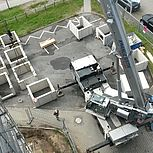 Aufzugschacht aus Stahlbeton  errichten