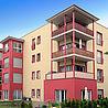 Stahl- und Aluminiumbalkone als Ecklösung für ein Mehrfamilienhaus