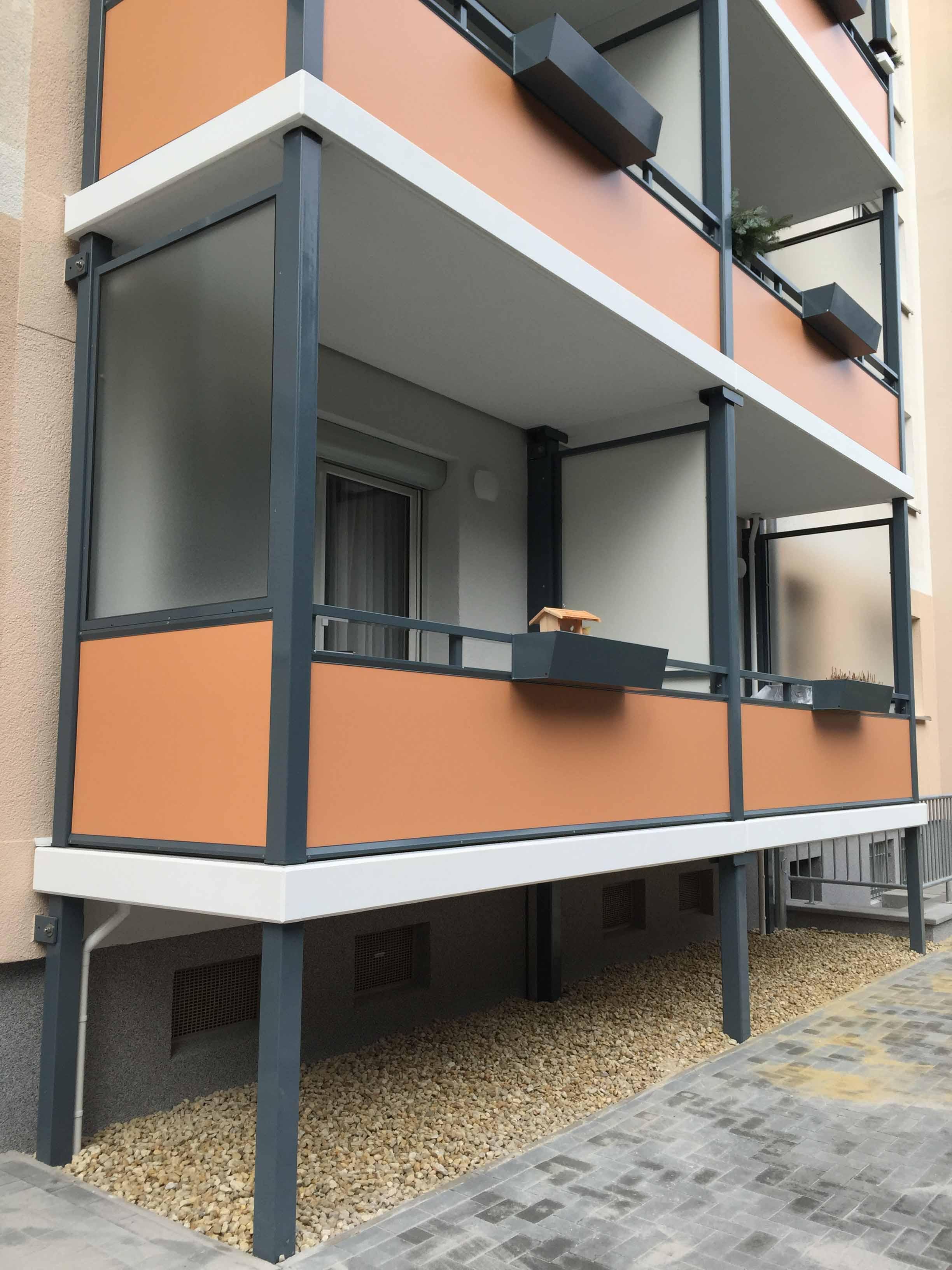 Msb gmbh aluminium - Balkon seitenwand ...